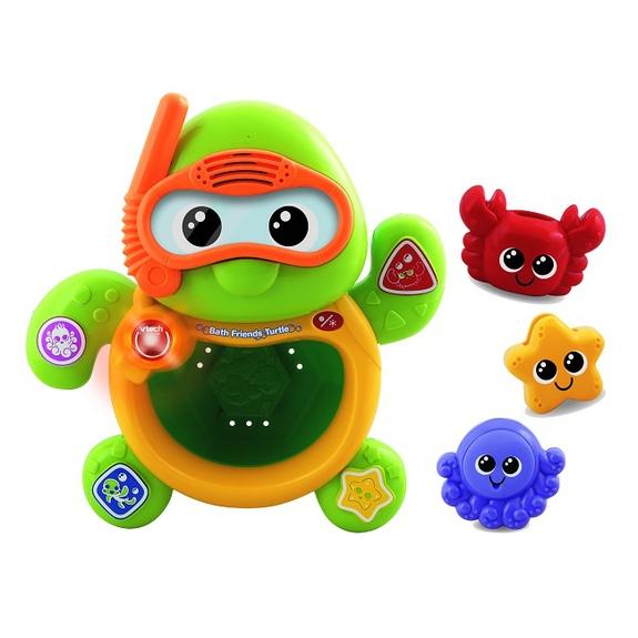 让可爱的音乐海龟和他的三个可爱朋友-红色小螃蟹,黄色小海星和紫色小