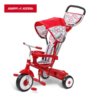 美國RadioFlyer-紅瓢蟲四合一三輪推車 ULTIMATE 4-IN1 STROLL N TRIKE(#488A)